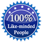 100% like-minded people